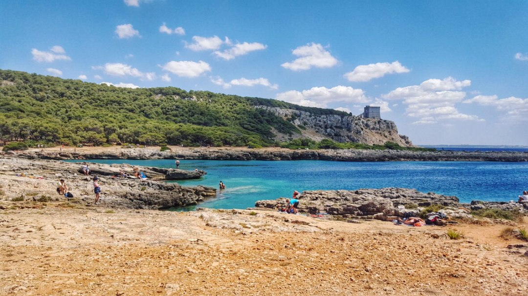 coast of Apulia with watchtower